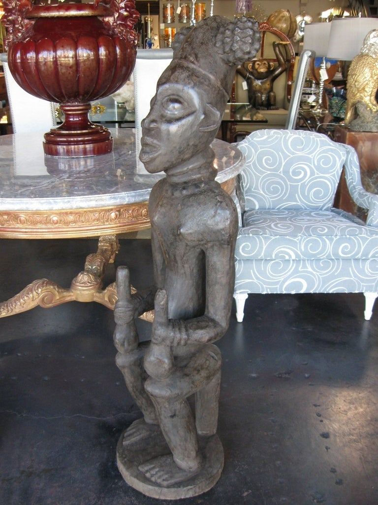 Decorative Large Impressive Hand Carved African Statues