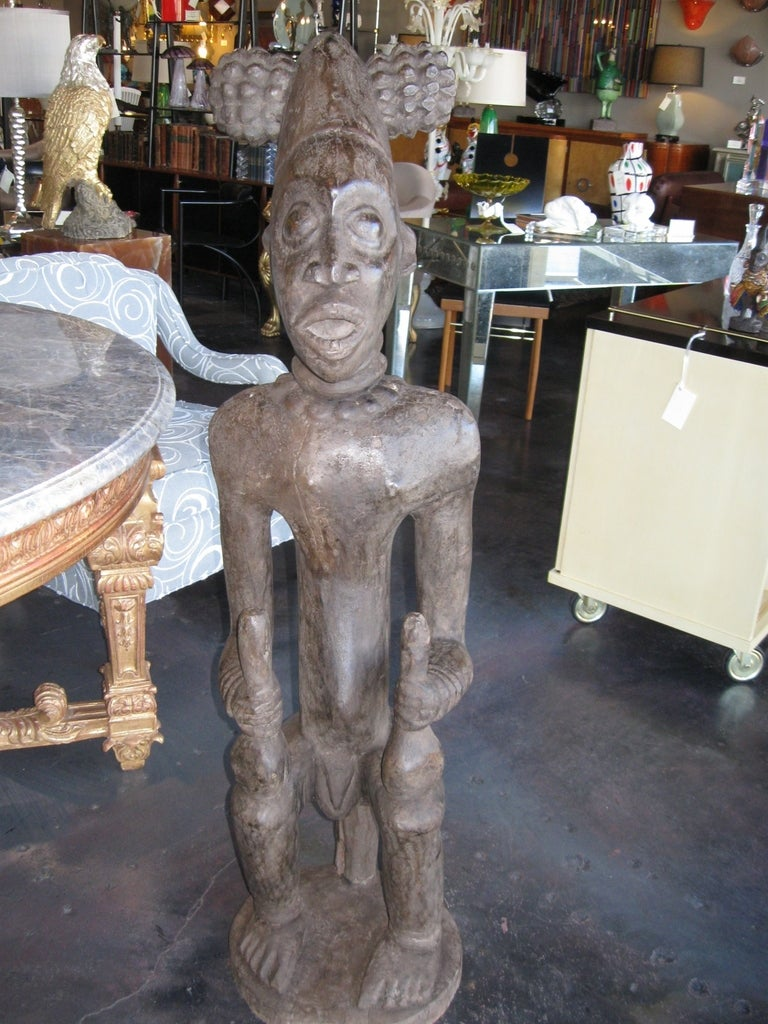 Decorative Large Impressive Hand Carved African Statues from Cameroon 4