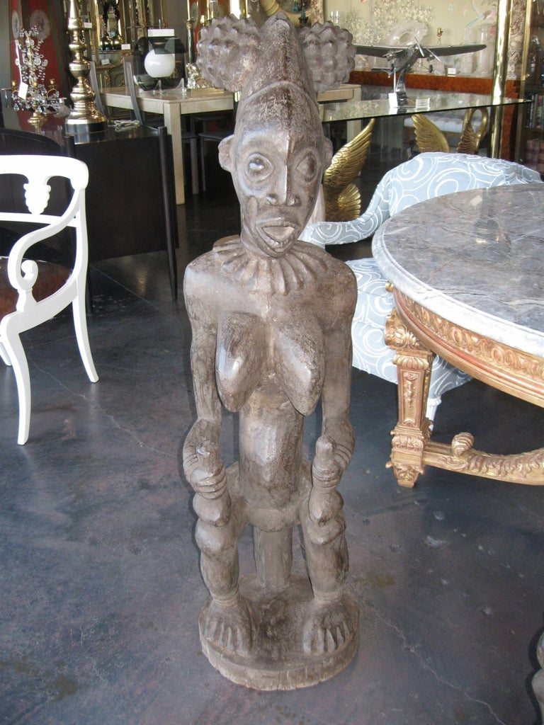 Decorative Large Impressive Hand Carved African Statues from Cameroon 5