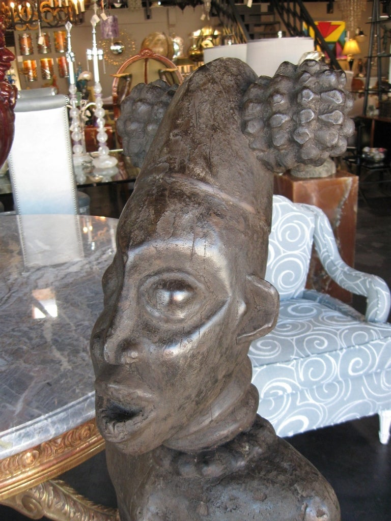 Decorative Large Impressive Hand Carved African Statues from Cameroon 6