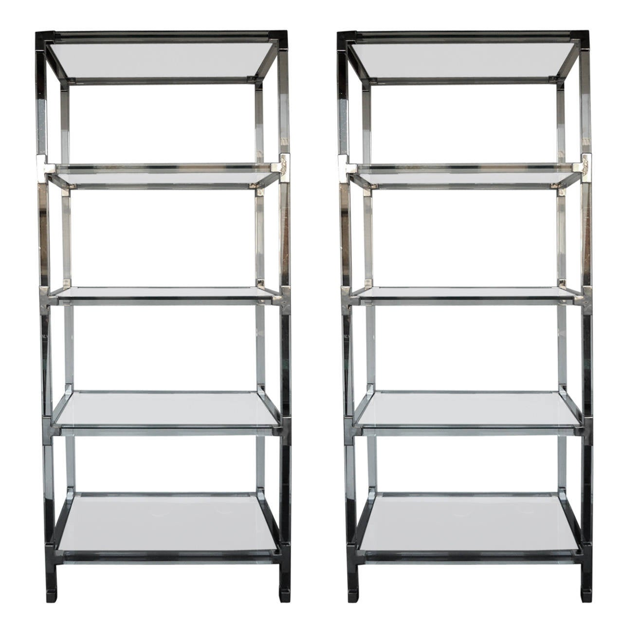 Grand pair of metric etageres in the style of charles hollis jones for sale a - Etagere grande hauteur ...