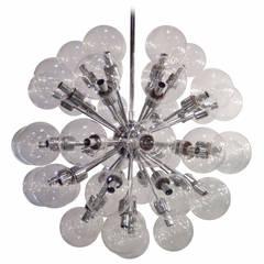 Innovative Glass Bubbles Sputnik Chandelier by Lightolier