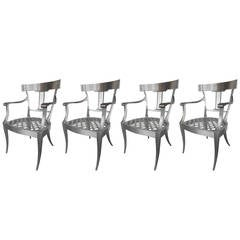 Splendid Set of Four Klismos Chairs