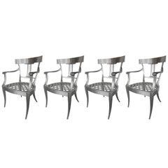 Splendid Set of Three Klismos Chairs