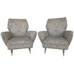 Elegant Pair of Giulio Minoletti Chairs