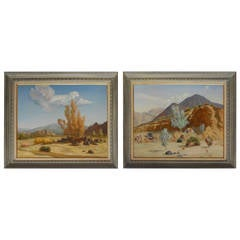Charming Set of Two Oil Paintings by R. Brownell McGrew
