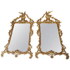 Extraordinary Pair of Chippendale Style Mirrors