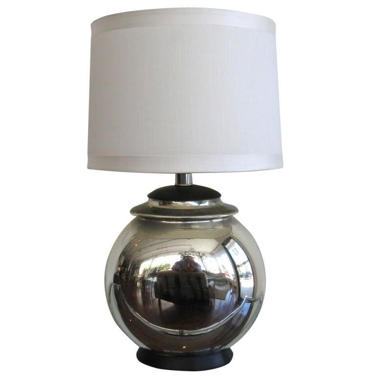Single Mercury Glass Table Lamp At 1stdibs