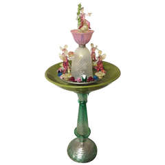 Limited Edition Cenedese Murano Glass Fountain
