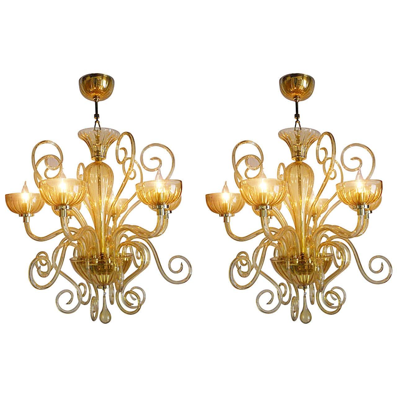 Beautiful pair of italian chandeliers for sale at 1stdibs beautiful pair of italian chandeliers for sale aloadofball Gallery