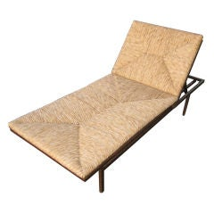 Patio Raffia and Wrought Iron Daybed