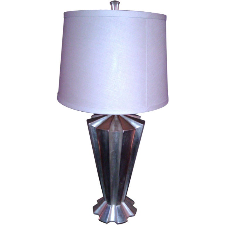 White Gold Leaf Rio Table Lamp By Bryan Cox