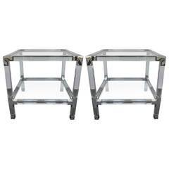 Pair of Charles Hollis Jones Metric Side Tables