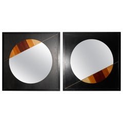 Playful Pair of Eugenio Carmi Mirrors