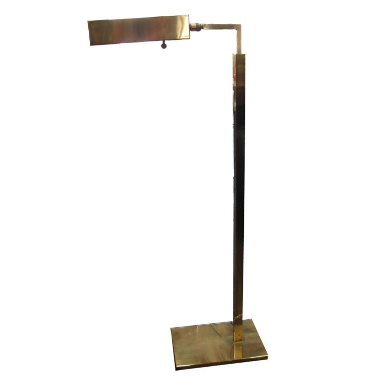 Octavia Floor Lamp Brass: Vintage Brass Koch And Lowy Floor Lamp At 1stdibs