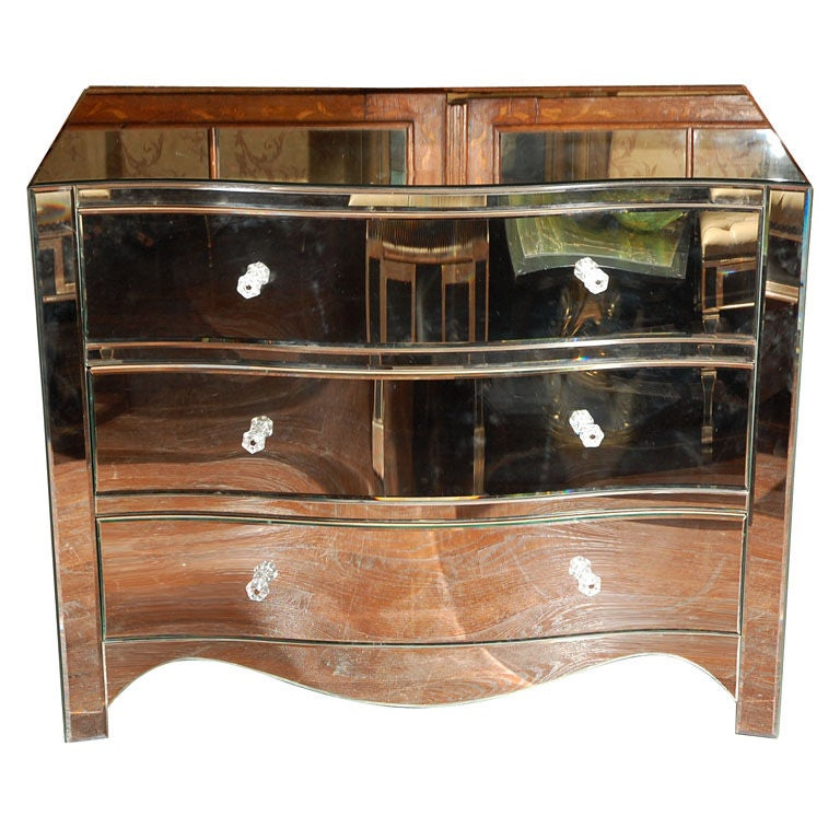 Curved Front Mirror Chest Of Drawers At 1stdibs