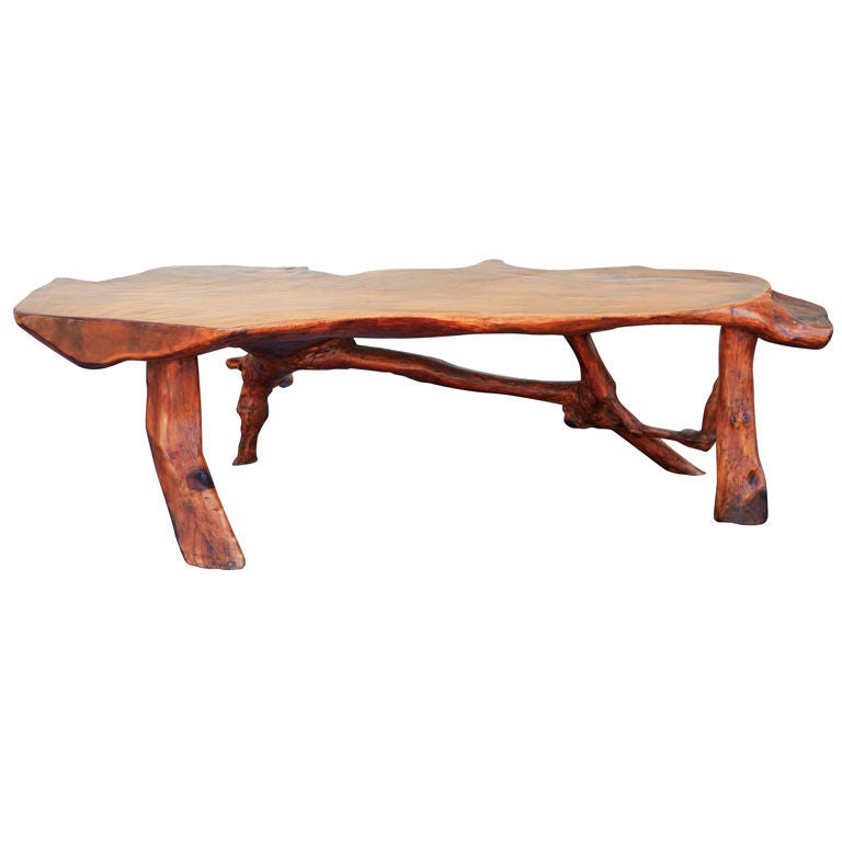 Organic Walnut Coffee Table At 1stdibs