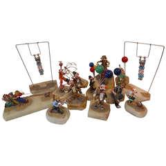 Playful Set of Ron Lee Clowns
