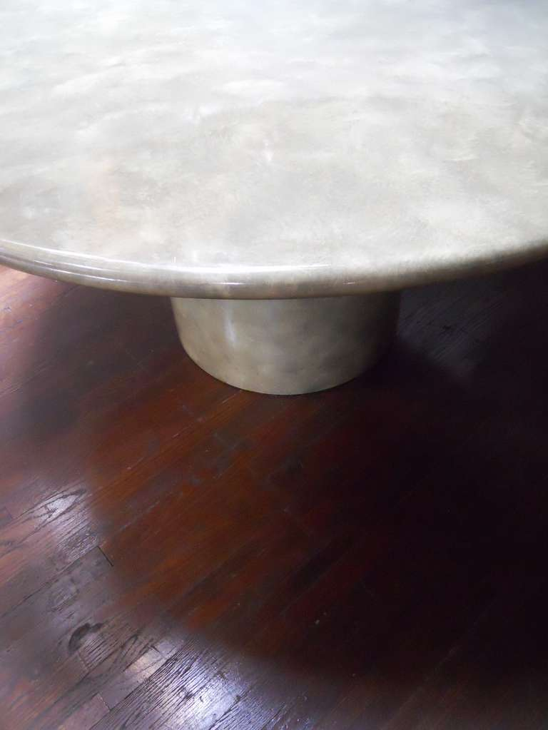 20th Century Grand Table in the Manner of Karl Springer For Sale