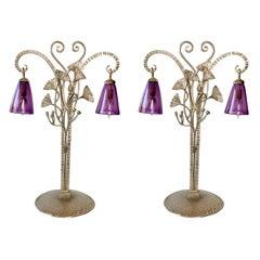 Pair of Art Nouveau Lamps