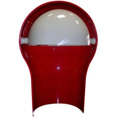 Red Telegono lamp for Artemide