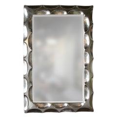 Impressive White Gold Leaf Mirror by Bryan Cox