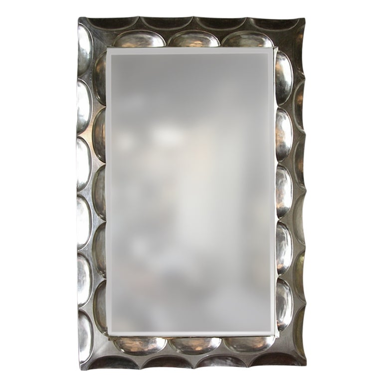 Impressive white gold leaf mirror by bryan cox at 1stdibs for White and gold mirror