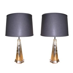 Pair of White Gold St Louis Lamps by Bryan Cox