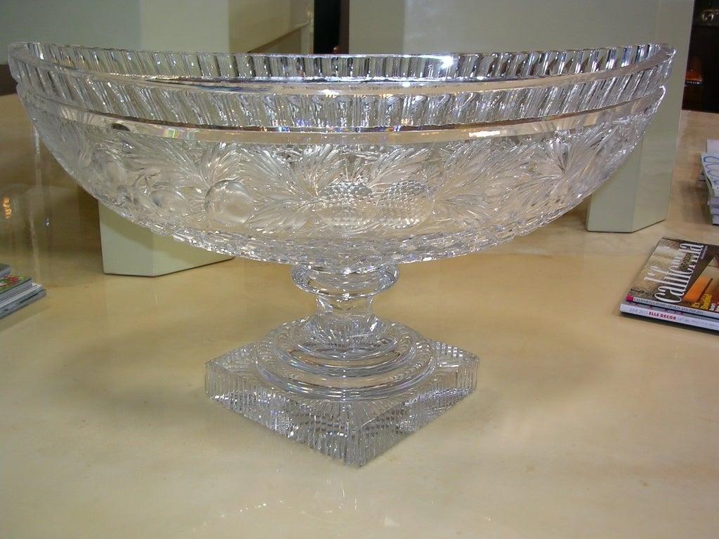 Th century english crystal centerpiece bowl at stdibs
