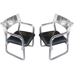 Pair of Lucite Armchairs