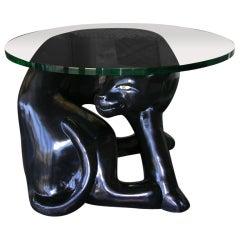 Unique Vintage  Panther Side Table