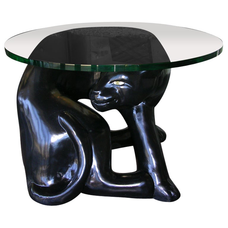 Unique vintage panther side table at 1stdibs for Unique side tables