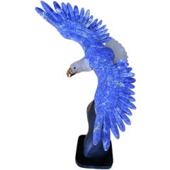 Lapiz & Rock Crystal Eagle Sculpture