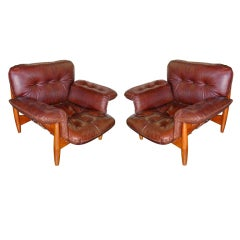 Pair of Sergio Rodrigues Mole Armchairs
