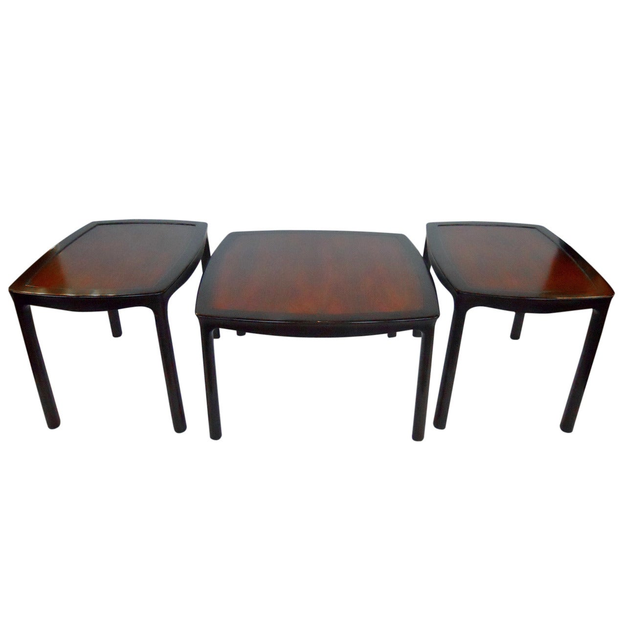 Versatile Set of Coffee Table and Two Side Tables by Dunbar