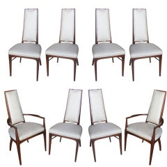Set of 8 Italian Modernist Dining Chairs
