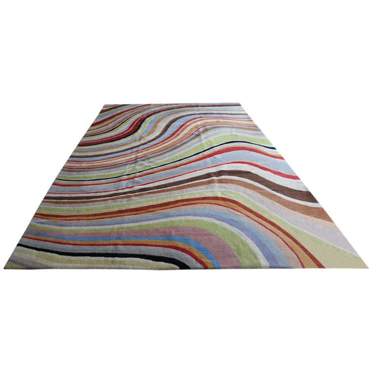 Colorful Paul Smith Quot Swirl Quot Rug At 1stdibs