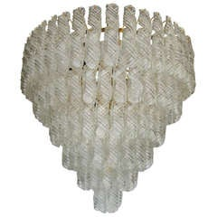 Fantastic Venini Spiral Glass Chandelier