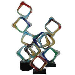 Beautiful Set of 3 Italian Geometrical Sculptures