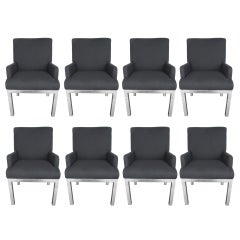 Chic Set of 8 Milo Baughman Chairs