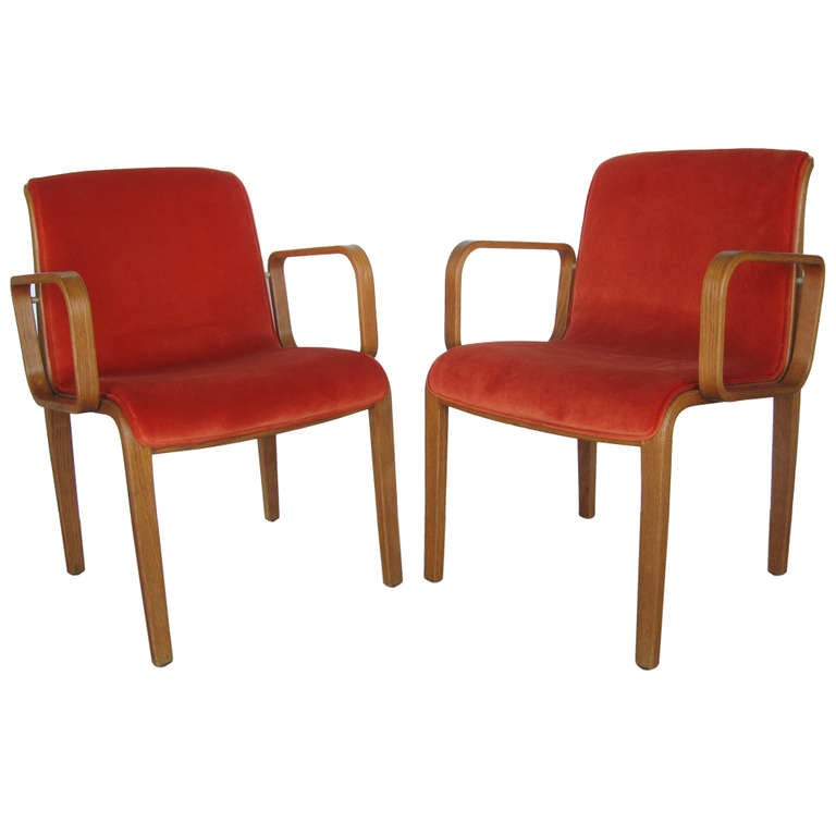Pair Authentic Vintage Knoll International Chairs