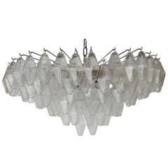 Rare Venini Polyhedral Shape Glass Chandelier