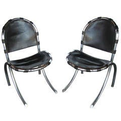 Expressive set of 8 french art deco chairs at 1stdibs - Chaise cobra studio pierre cardin ...