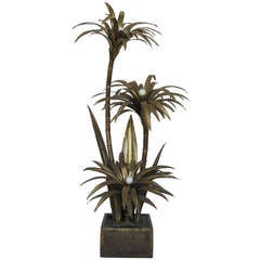 Finely Detailed Maison Jensen Palm Tree Floor Lamp