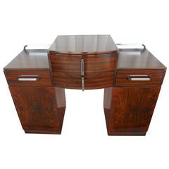 Versatile Art Deco Console or Commode with Drawers