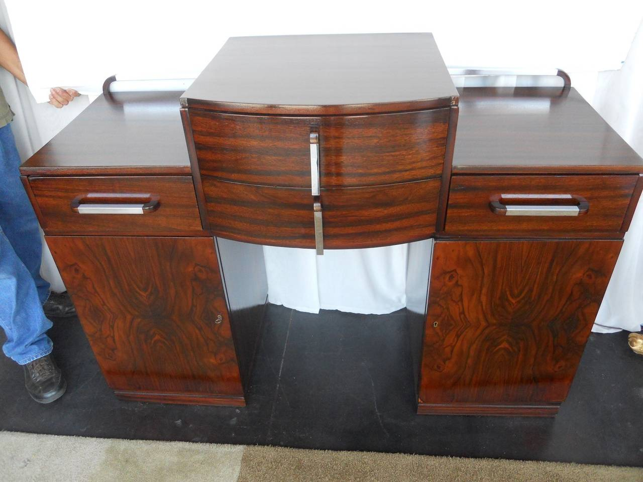 Versatile art deco console or commode with drawers for - Console commode ...