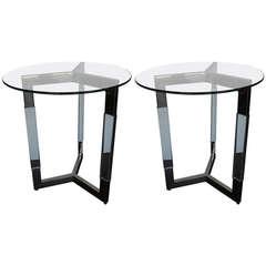 Fantastic Pair of Charles Hollis Jones Side Tables