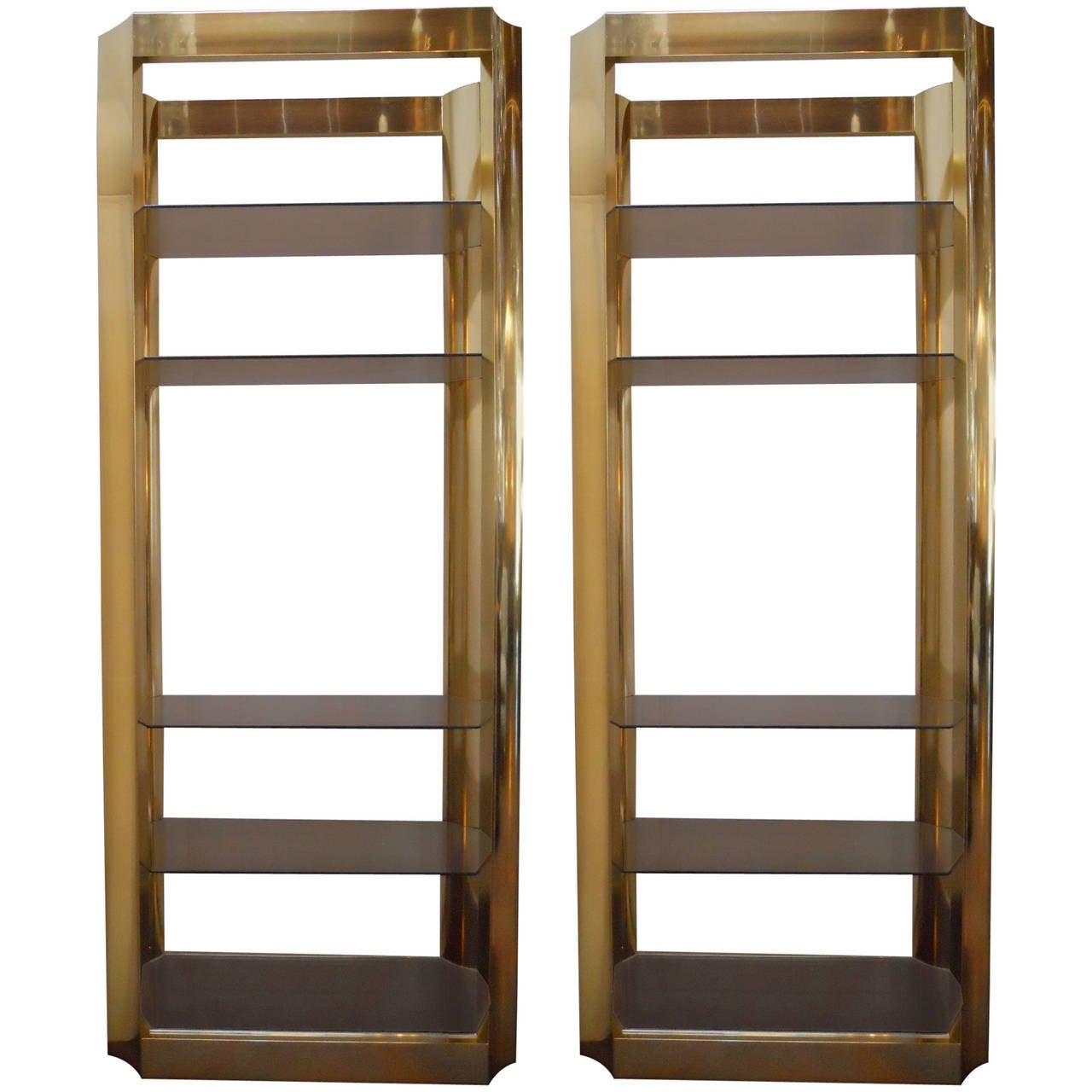 pair of american vintage etageres at 1stdibs. Black Bedroom Furniture Sets. Home Design Ideas