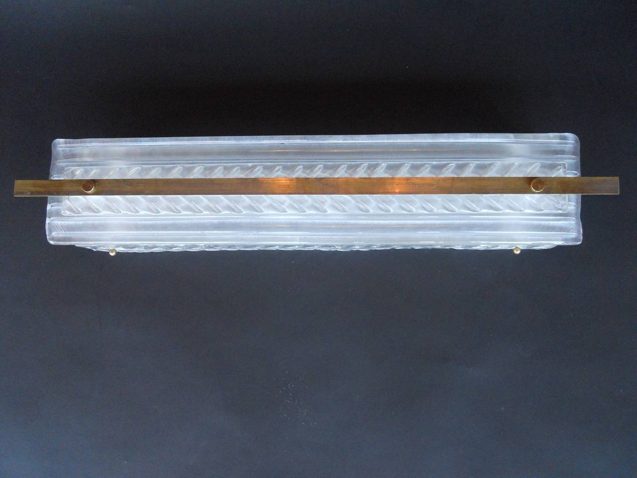 Set of 16 Art Deco Rectangular Frosted Glass Wall Sconces at 1stdibs