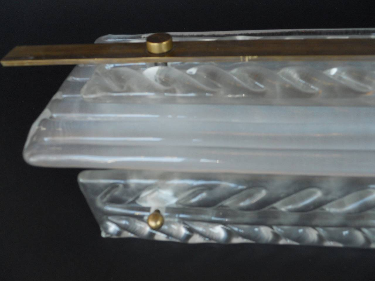 Wall Sconce Frosted Glass : Set of 16 Art Deco Rectangular Frosted Glass Wall Sconces at 1stdibs